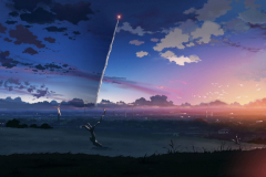 5-centimeters-per-second-anime-byousoku-5-centimeters-city-clouds-missile-mountains-movie-sky-sunset