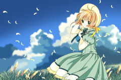 card-captor-sakura-kinomoto-flower-wallpaper