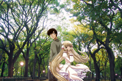 chobits-chii-hideki-love-in-the-park-wallpaper