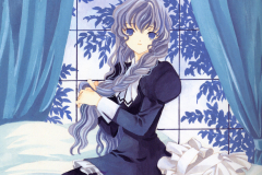 chobits-yuzuki-blue-hair-bed-wallpaper