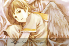 haibane-renmei-rakka-sleepy-wallpaper