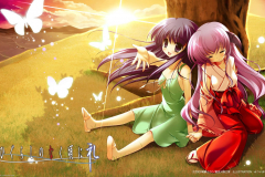 Higurashi-When-They-Cry-girls-holding-hand-together-very-cute-wallpaper